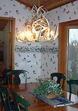 Enjoy Your Home Cooking in the Dining Area of our Vacation Rental House/Cabin in Bowing Rock, NC.